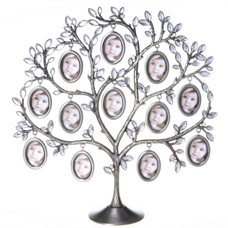 Family Photos Frame Tree 12 Pictures Metal Holder Art House Home ...