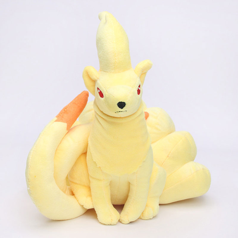 Anime Pokemon Ninetales Nine Tails Stuffed Toy Doll Fox Animal Plush Gift Dolls