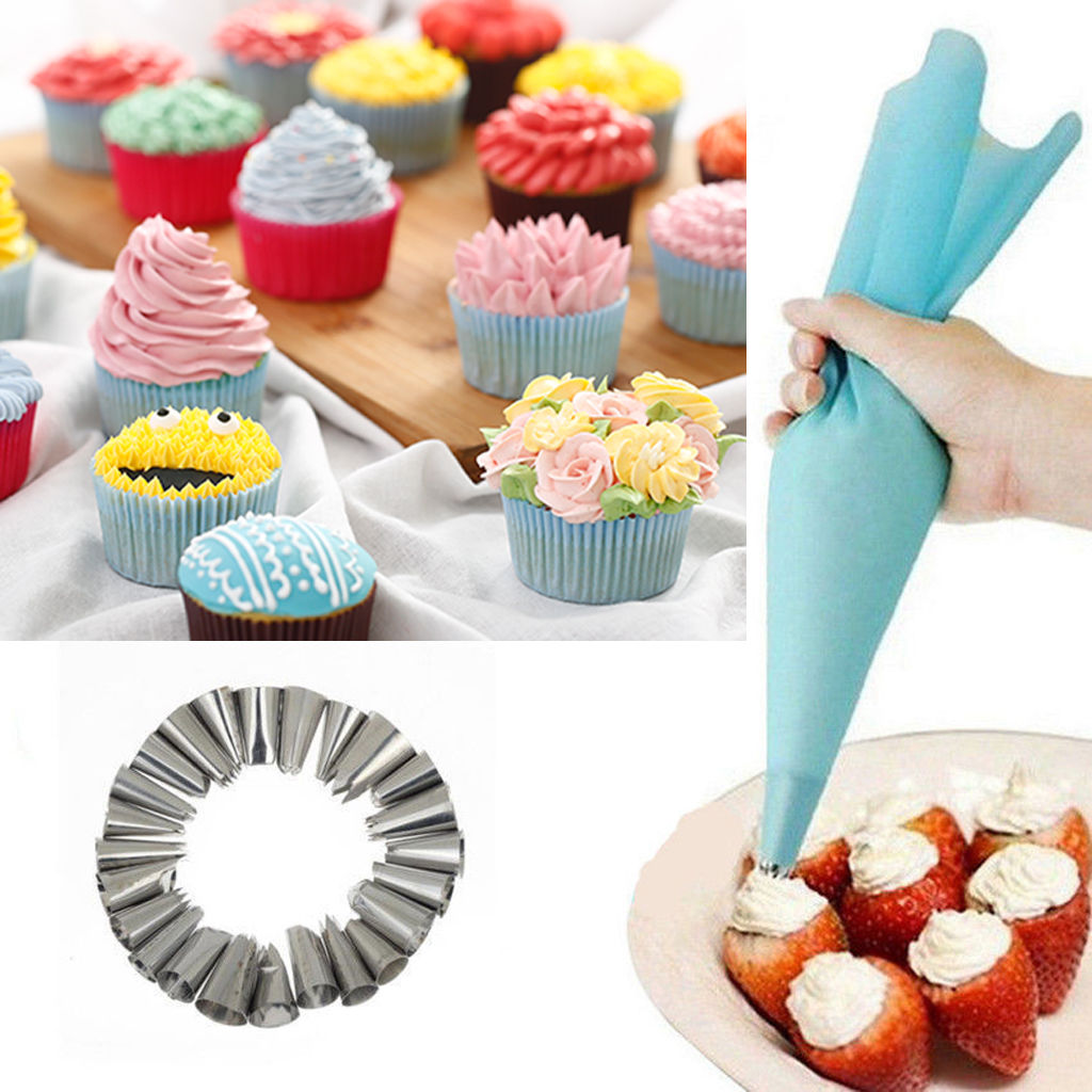How To Use Cake Decorating Nozzles : 24Pcs Cake Decorating Nozzles Tips Set Pastry Cupcake ...