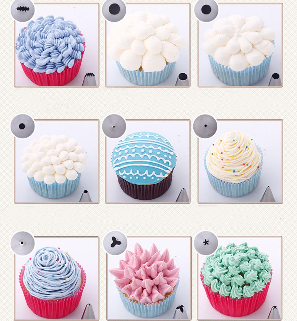 24Pcs Cake Decorating Nozzles Tips Set Pastry Cupcake ...