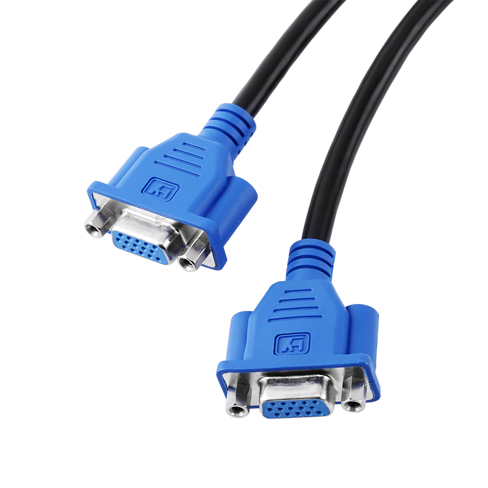 Computer Wire Splitter : Dms to dual vga monitor screen computer splitter