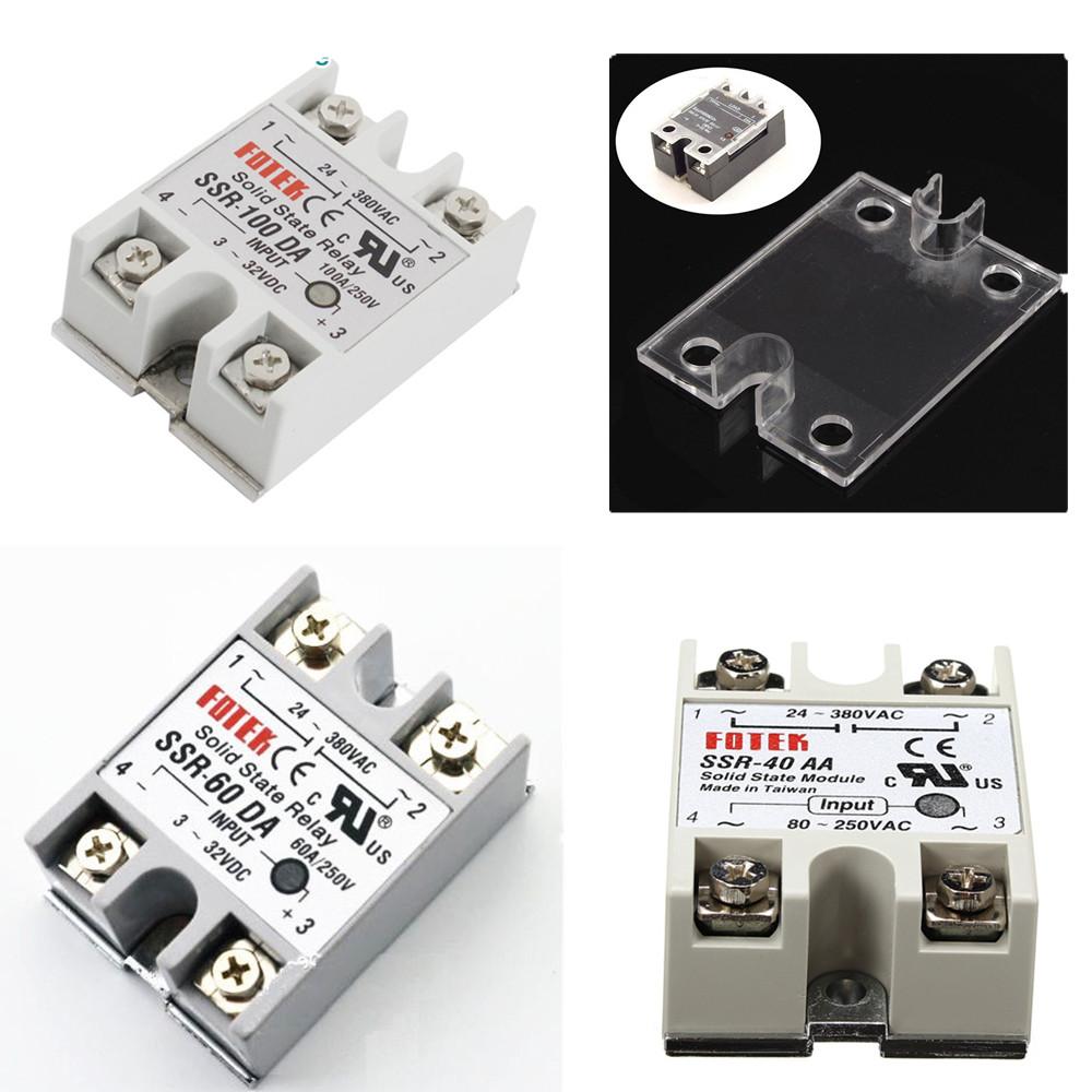 25a 40a 60a 250v Ssr 25da 40da 60da Solid State Relay Alloy Electrical For U Heat Sink