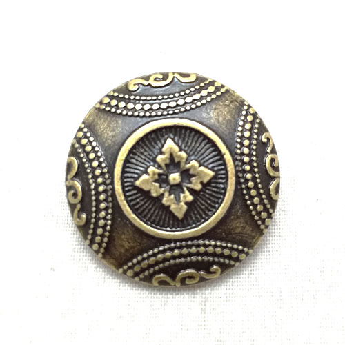Vintage Flower Brass Coat Of Arms Metal Buttons Sewing