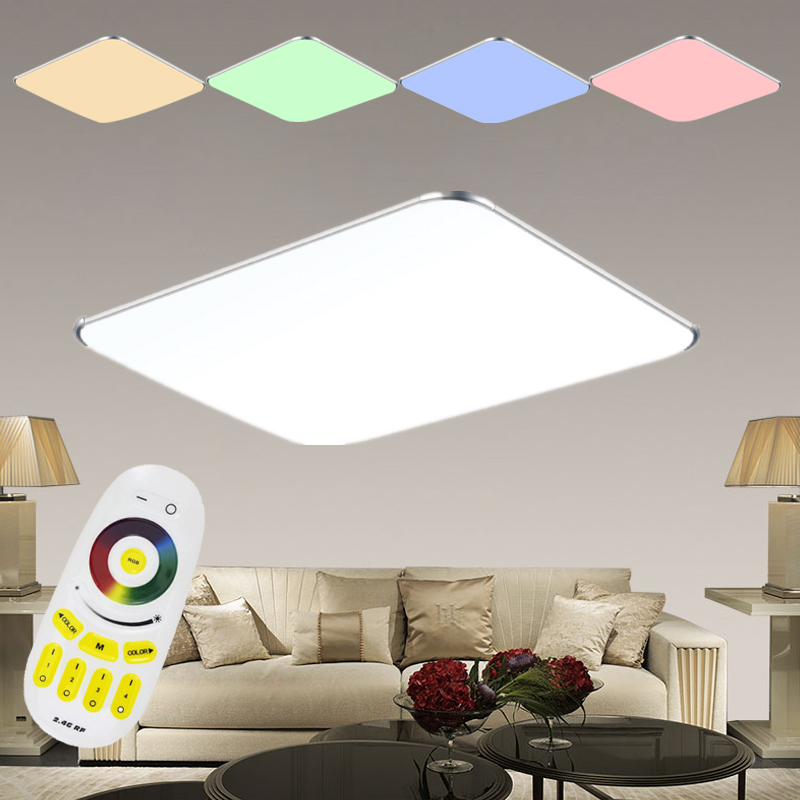 lampada da soffitto led rgb dimmerabile cambio colore plafoniera ultra sottile ebay. Black Bedroom Furniture Sets. Home Design Ideas