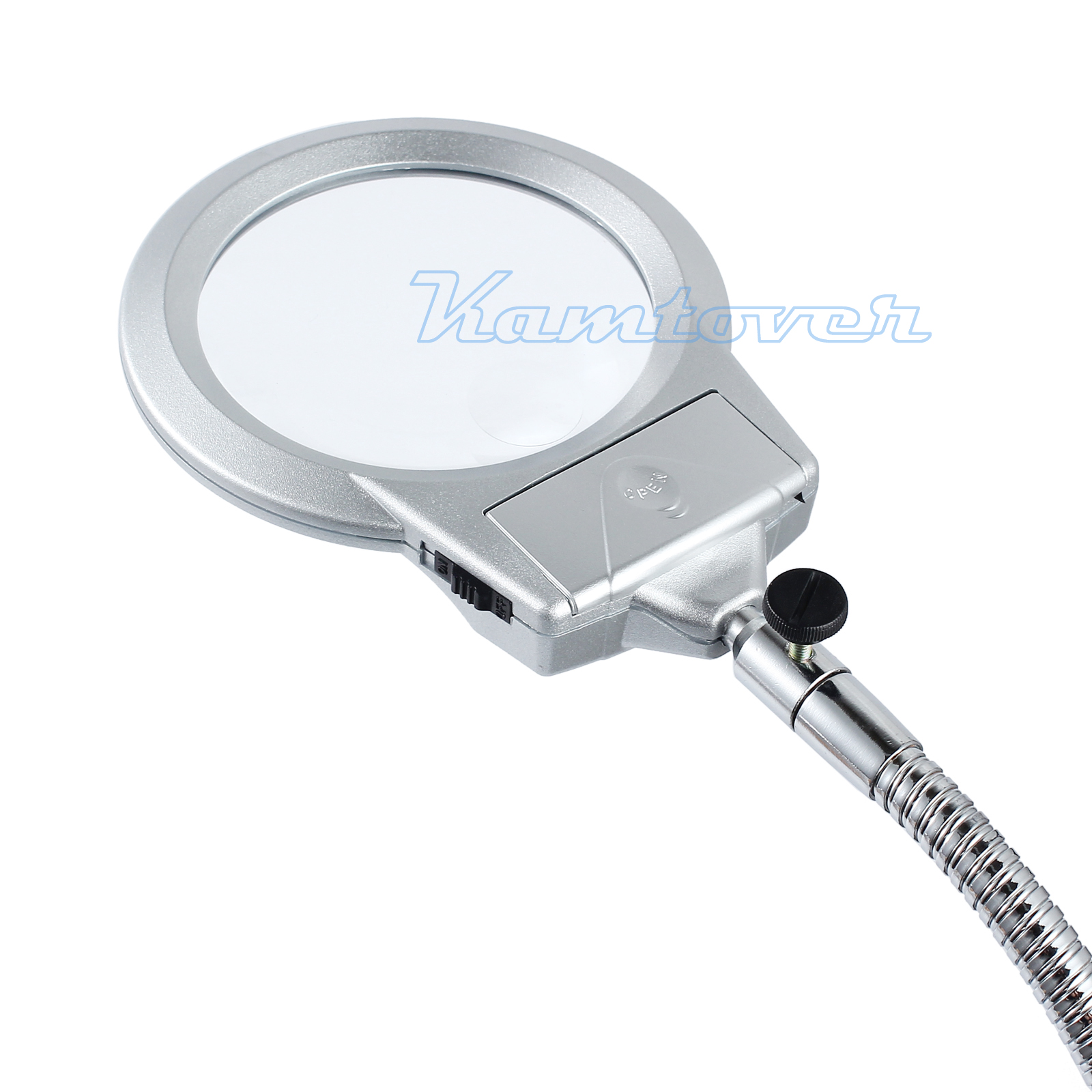2 led lighted lamp table top desk magnifier magnifying