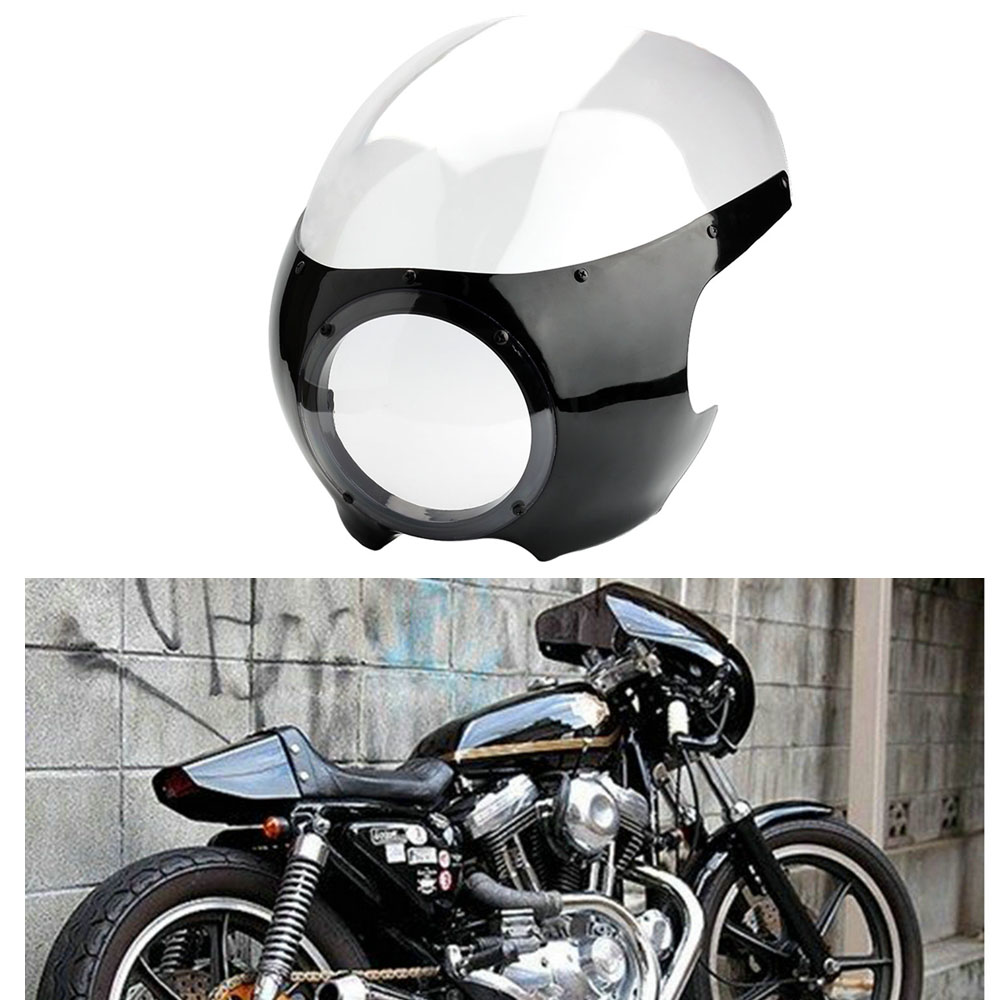 Cafe Racer Motorcycle Headlight : New motorcycle quot cafe racer drag racing headlight