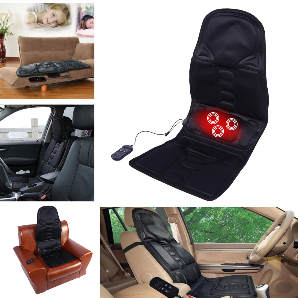 heat back massage chair car home seat cushion massager neck pain pad heater dy9 ebay. Black Bedroom Furniture Sets. Home Design Ideas