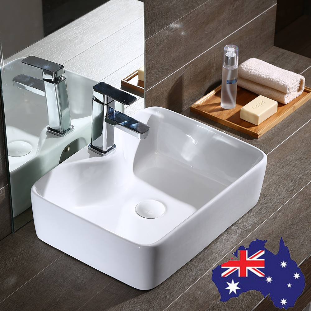 above counter bathroom sink modern rectangle bathroom basin sink above counter mixer taps 15343