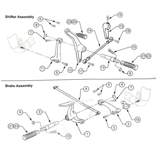 Foot Pegs Forward Control Kit For Harley Sportster Xl 883 1200 48