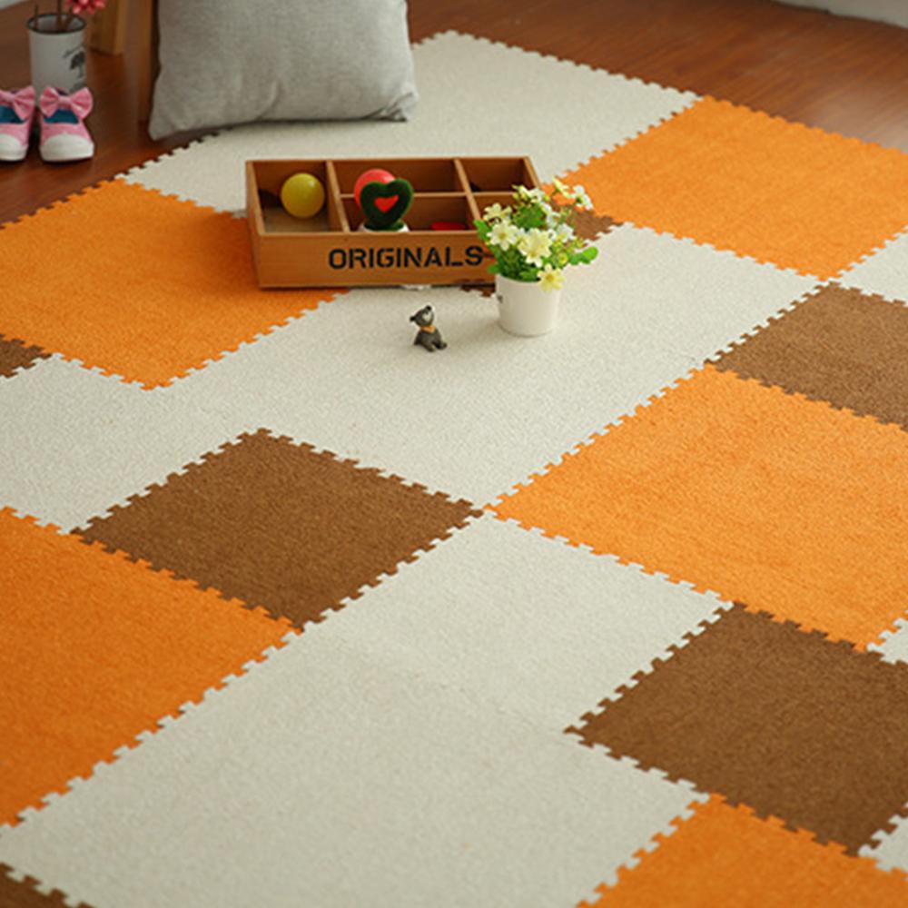 Plush Eva Foam Exercise Floor Mat Warm Soft Puzzle