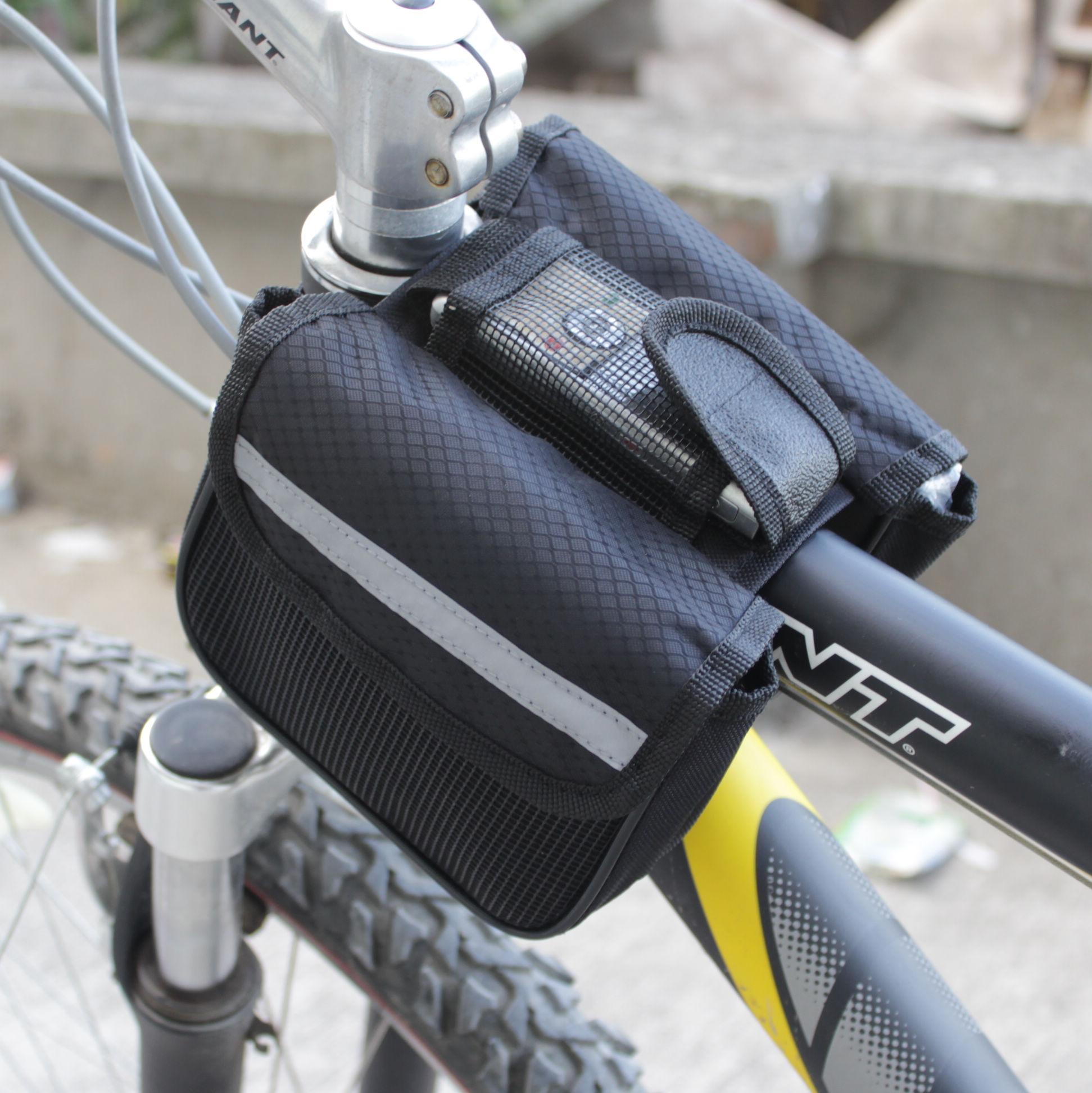 2018 Radfahren MTB Fahrradrahmen Pannier vorne Rohr Doppel ...