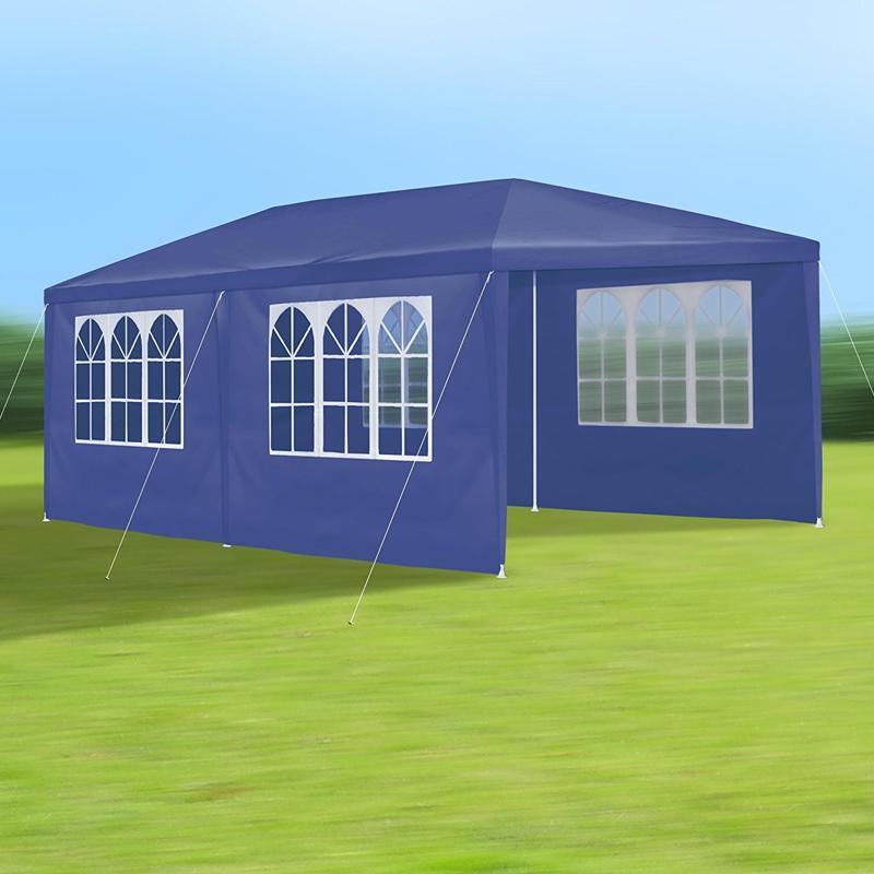 Gartenpavillon Zelt Faltpavillon Pavillon Partyzelt 3x6 : Bierzelt partyzelt gartenzelt festzelt pavillon zelt blau
