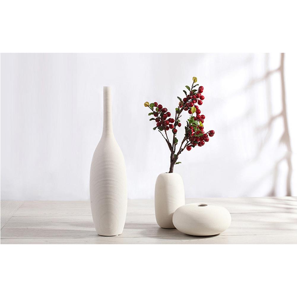 Simple modern porcelain decorative vase white ceramic for Modern home decor vases