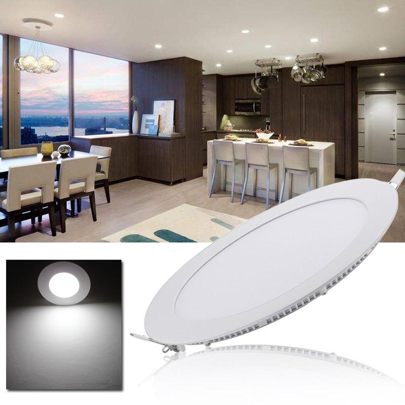 led panel einbaustrahler deckenleuchte einbau lampe trafo ultraslim 18w rund ebay. Black Bedroom Furniture Sets. Home Design Ideas