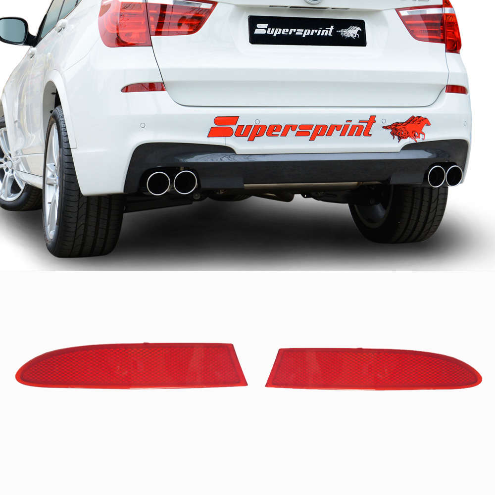 For BMW F25 X3 11-17 Pair Set of Rear Left /& Right Bumper Reflectors Red Genuine