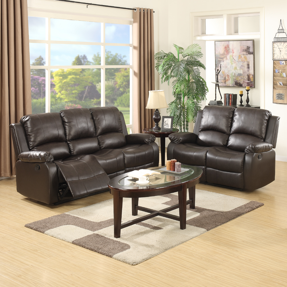 3 2 Seaters Sofa Set Loveseat Chaise Couch Recliner