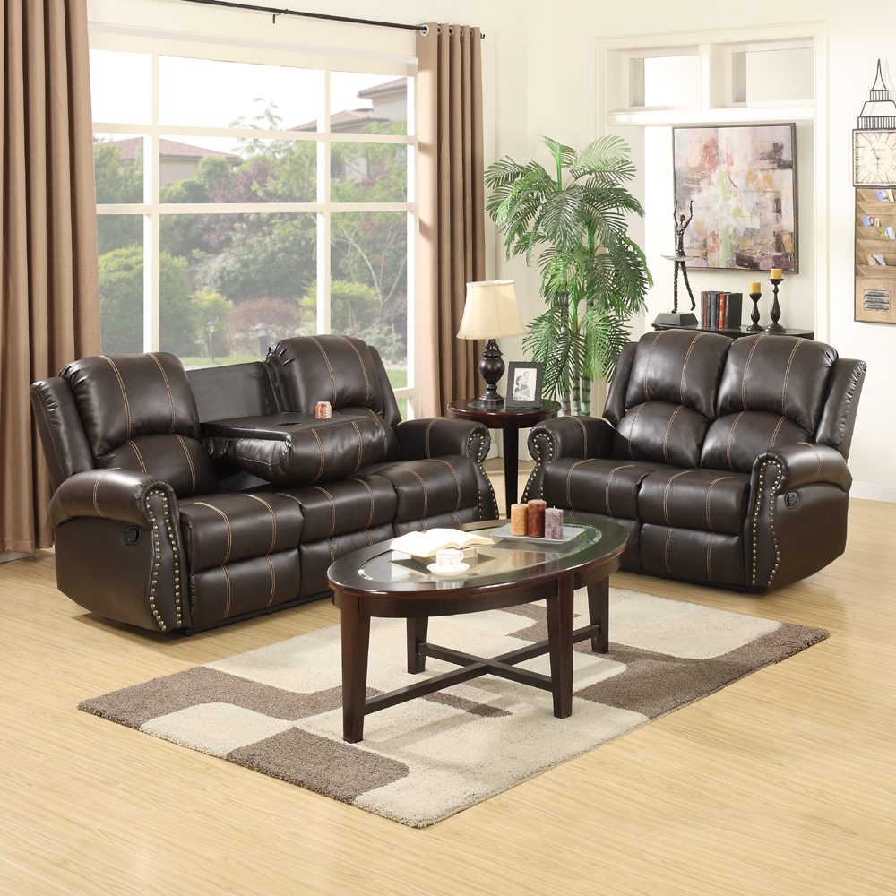 gold couch living room gold thread 3 2 sofa set loveseat recliner leather 15148