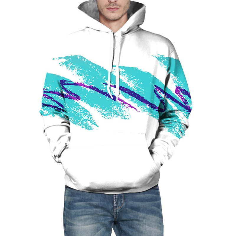 Cool Fashion 3D Print Hoodie Mens Floral Printed Warm Active Hooded Sweatshirt | eBay