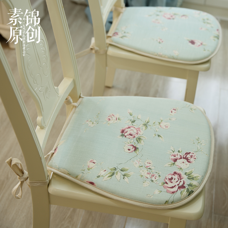 Shabby Chic Chair Seat Pads : French Country Cottage Shabby Chic Floral Green Chair Seat Pad/Mat cushion
