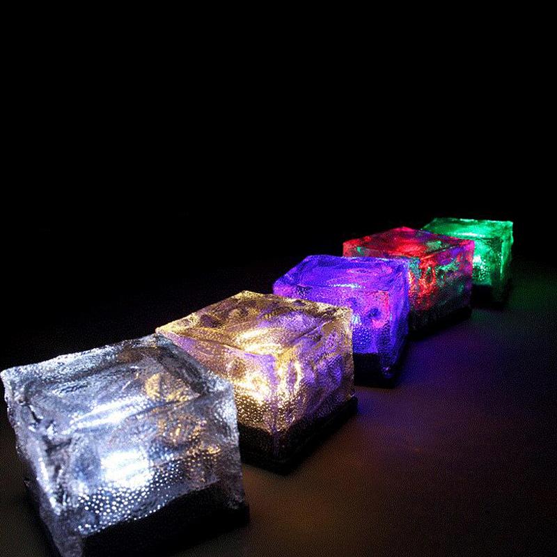2 4 6 er set solar leucht pflasterstein garten led wegbeleuchtung glasbaustein ebay. Black Bedroom Furniture Sets. Home Design Ideas