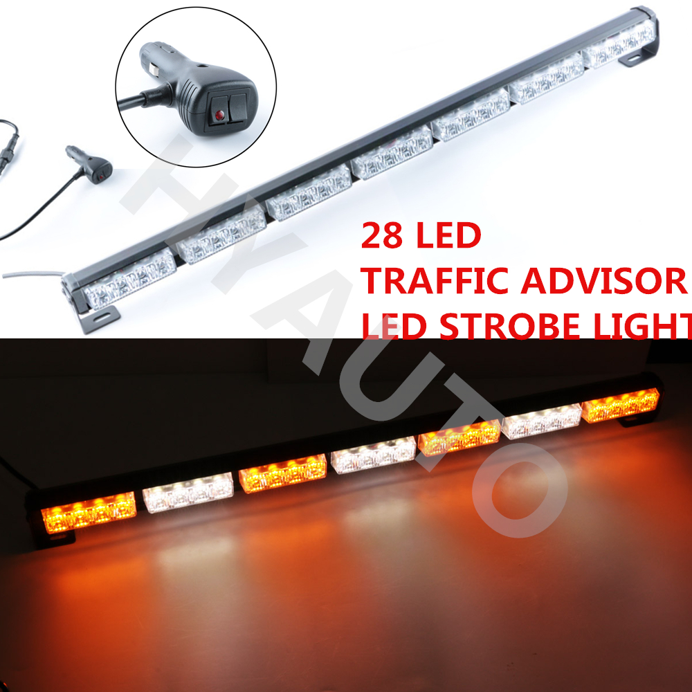 warning traffic advisor flash strobe light bar amber white ebay. Black Bedroom Furniture Sets. Home Design Ideas