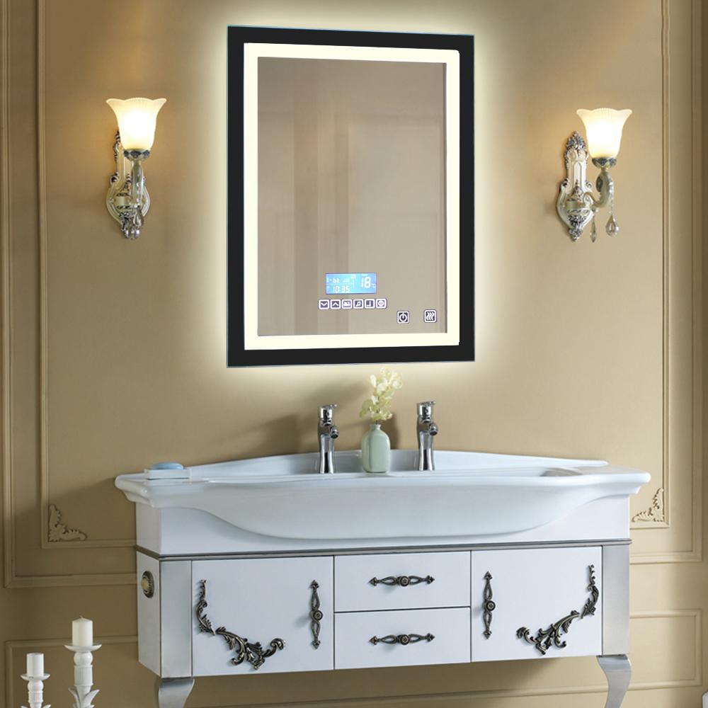 Led badspiegel badezimmerspiegel 60x80cm lichtspiegel mit - Badezimmerspiegel modern ...