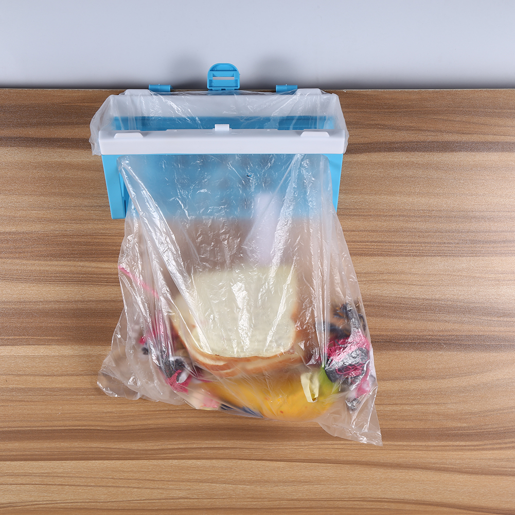 Plastic Hanging Trash Storage Holder Garbage Bag Rack Door