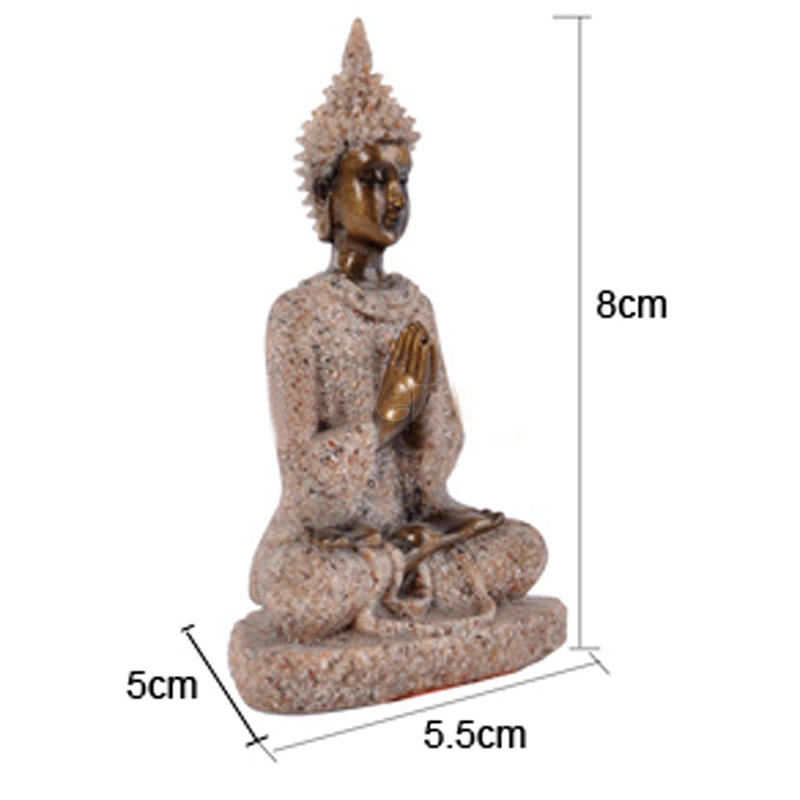 1 pc sculpture handmade sandstone meditation buddha statue for Buddha decorations for the home uk