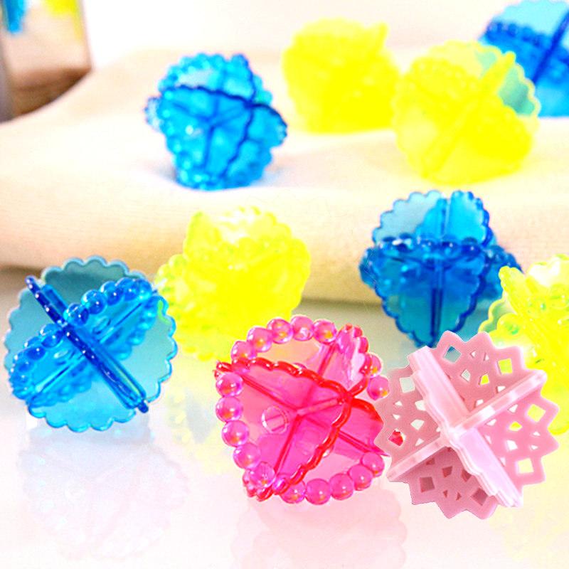 4pcs multicolore balles boule souple lavage v tement s che linge adoucissant ebay. Black Bedroom Furniture Sets. Home Design Ideas