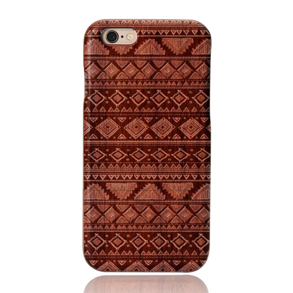 Atractivo-de-Suenos-Funda-Carcasa-de-Madera-Natural-Rosa-PC-Para-iPhone-7