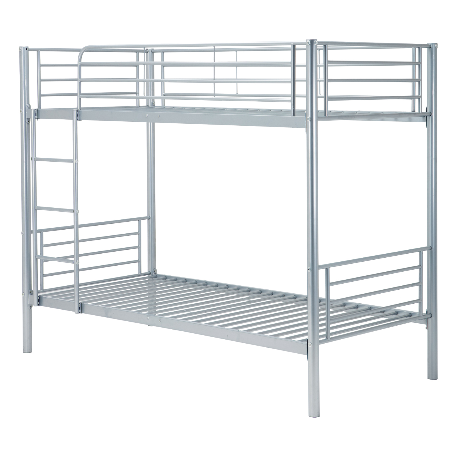 metal bunk beds frame twin over twin ladder - Metal Bunk Bed Frames