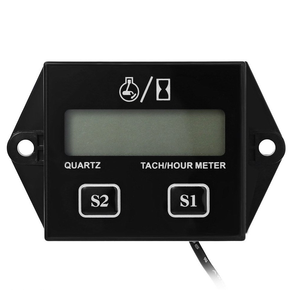Hour Meter Operation : Waterproof motor lcd tach hour meter tachometer stroke