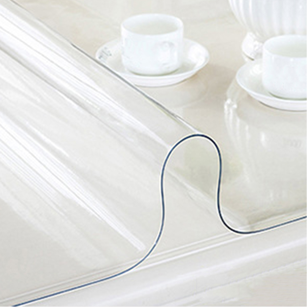 yazi PVC Clear Tablecloth Waterproof Table Protector Kitchen ...