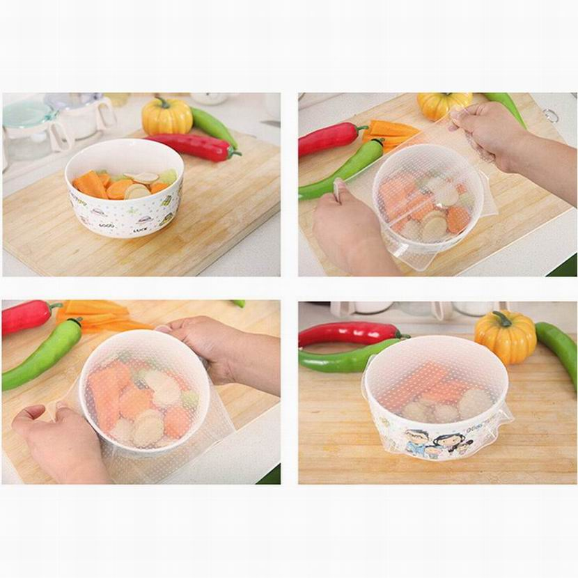 Gallant Silicone Wraps Seal Cover Stretch Cling Film Food