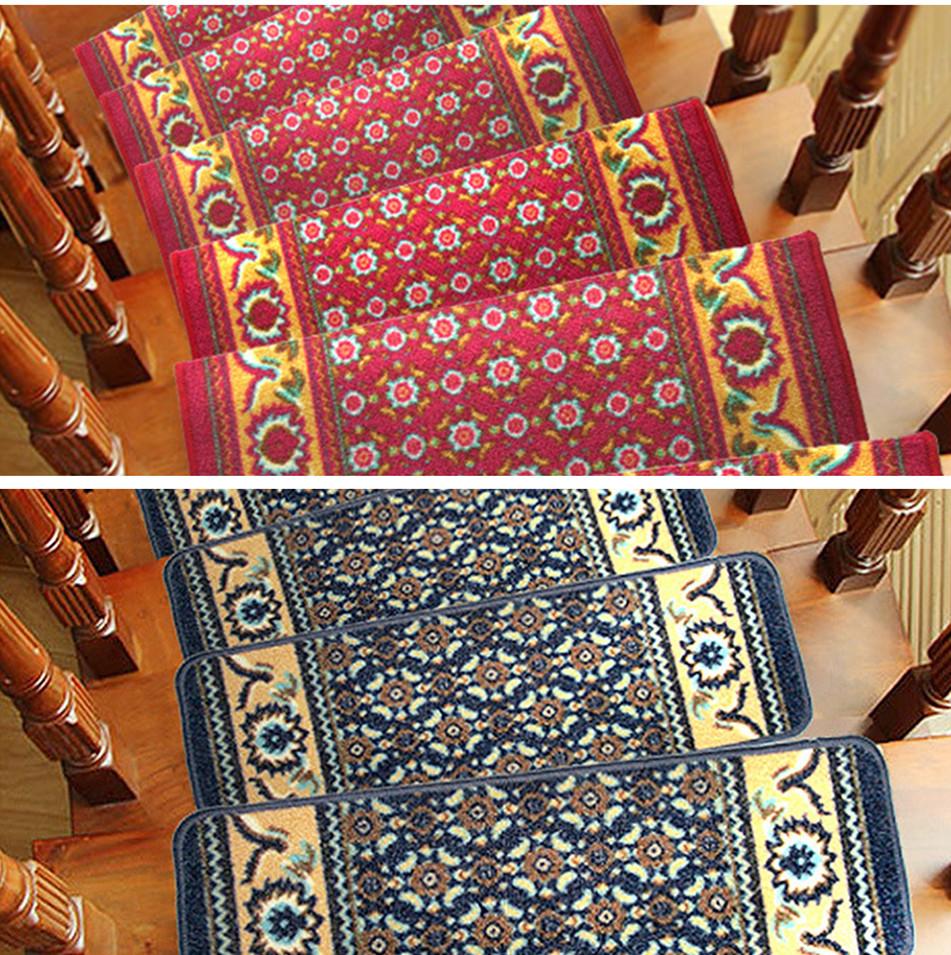 Rectangular Stair Tread Mats Durable Carpet Non Slip Step
