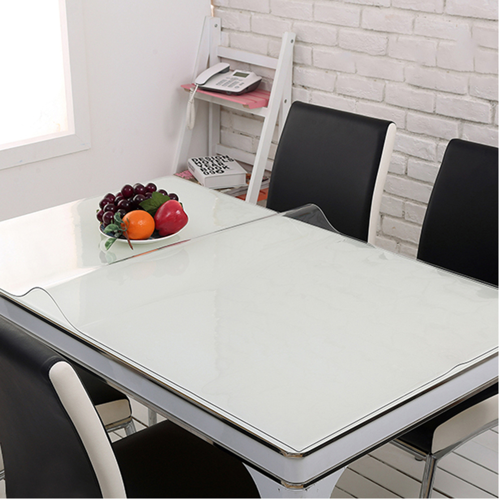 yazi PVC Clear Tablecloth Waterproof Table Protector ...