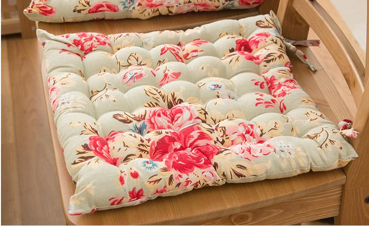 Shabby Chic Chair Seat Pads : Country Cottage Shabby Chic Floral Rose Cotton Quilted Chair Seat Cushion Pad eBay