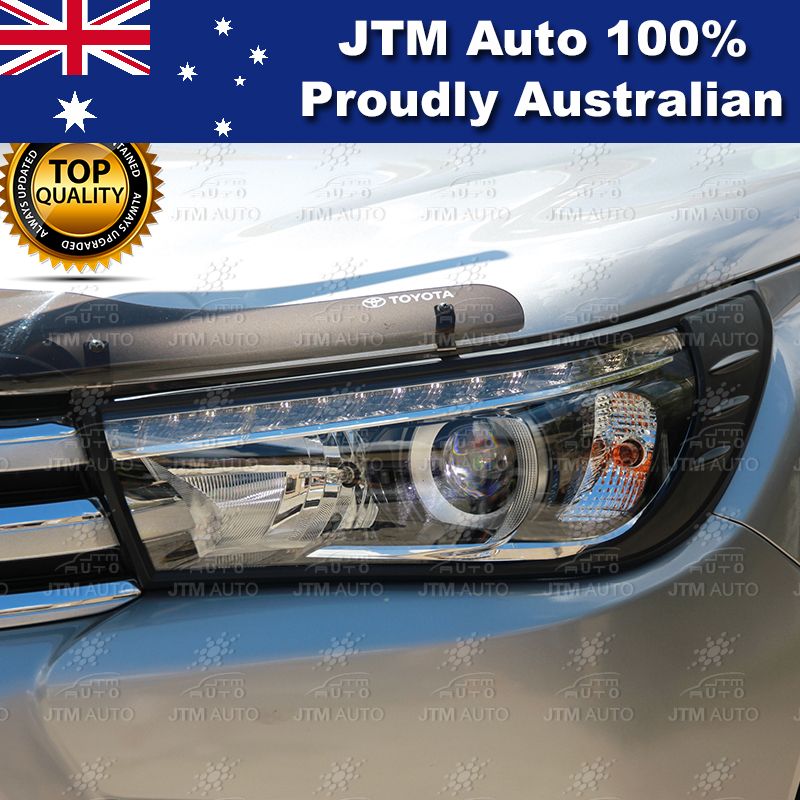 MATT Black Head Light Cover Trim to suit Toyota Hilux 2015-2018 (SR5 ONLY)