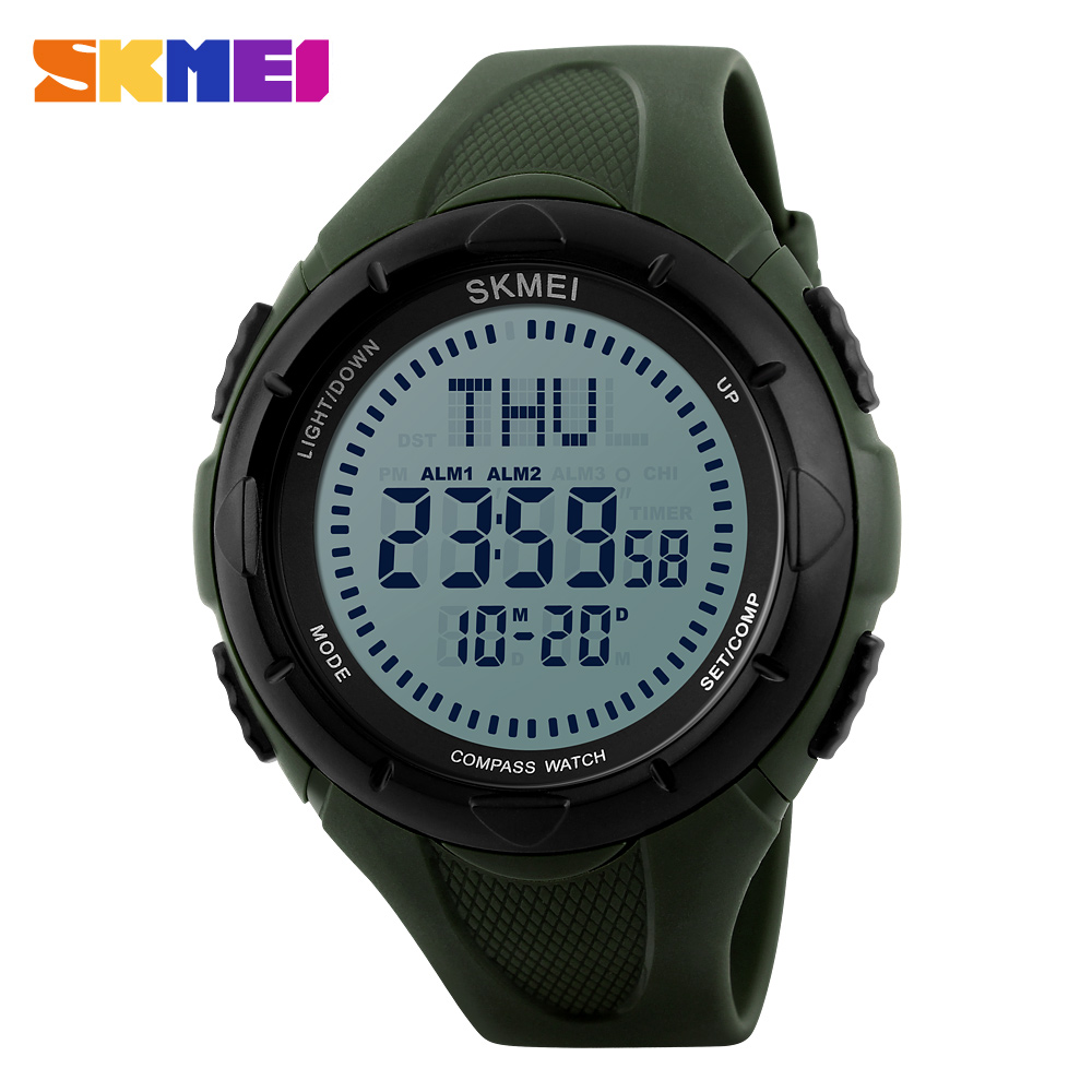 compass s led digital waterproof timekeeping