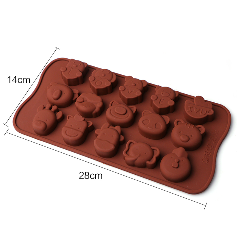 Cake Decorating Animal Molds : Catoon Animal Silicone Cake Decorating Mould Candy Cookies ...