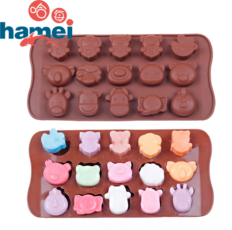 Cake Decorating Chocolate Molds : Catoon Animal Silicone Cake Decorating Mould Candy Cookies ...