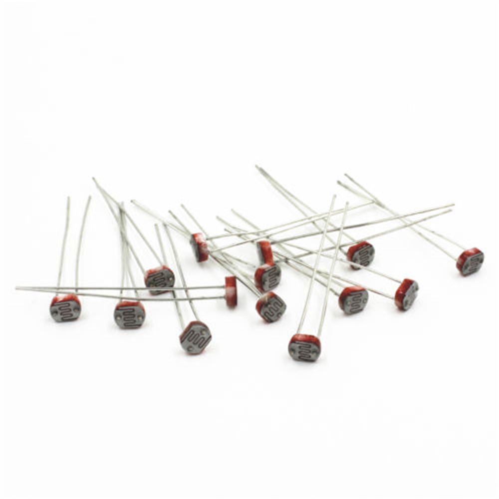 20pcs 5mm Photoresistor Gl5537 Ldr Photo Resistors Light Dependen T For Beginners In Electronics