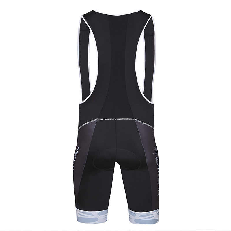Black-Cycling-Bib-Shorts-Compression-Men-039-s-Gel-Padded-Bicycle-Bib-Knicks-Coolmax