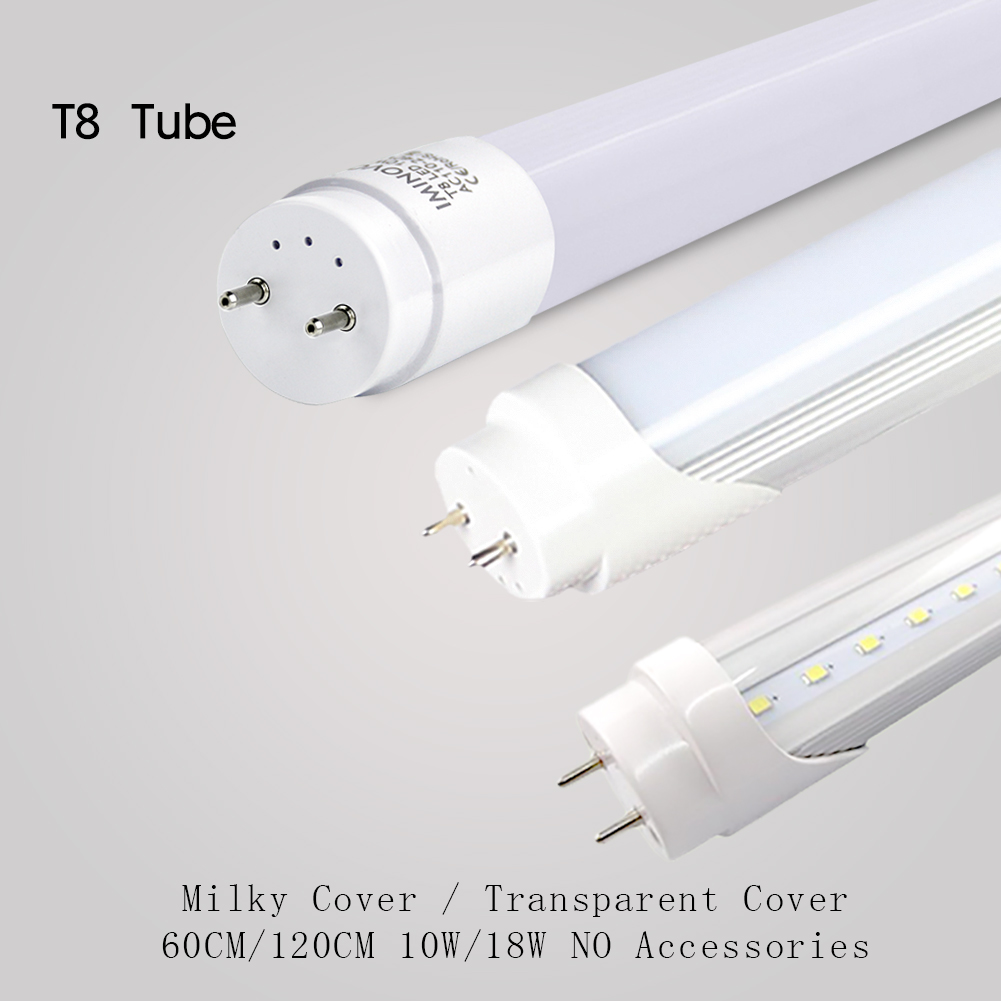 Fluorescent Light Cover Replacement: T8 LED Tube AC110V Light Bulb 2FT/4FT Replacement