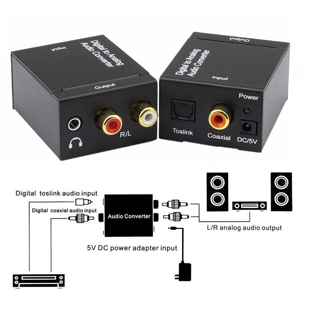 Digital Optical Toslink Or Spdif Coax To Analog L R Rca