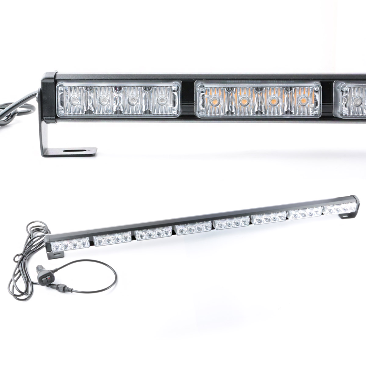 32 led car truck emergency warning traffic advisor strobe light bar. Black Bedroom Furniture Sets. Home Design Ideas