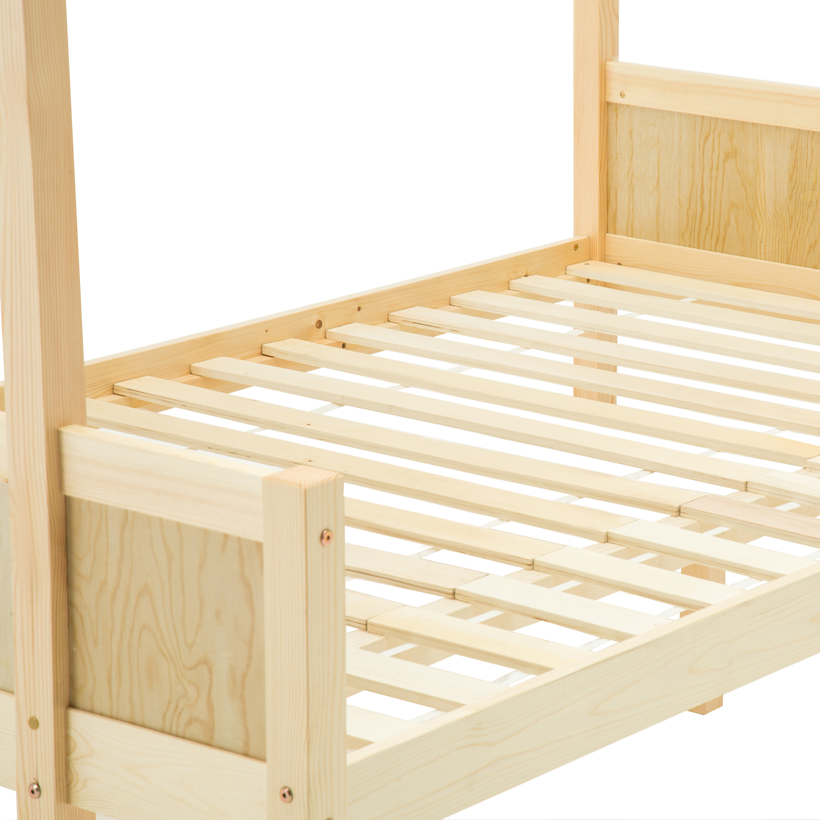 Bn pine triple pinewood bunk bed wooden finished bedroom - White and pine bedroom furniture ...