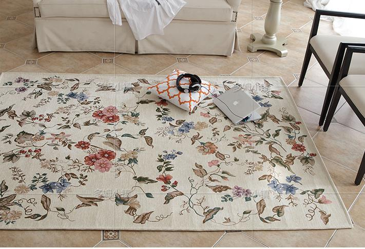 Country Cottage Victorian Traditional Floral Beige Floor