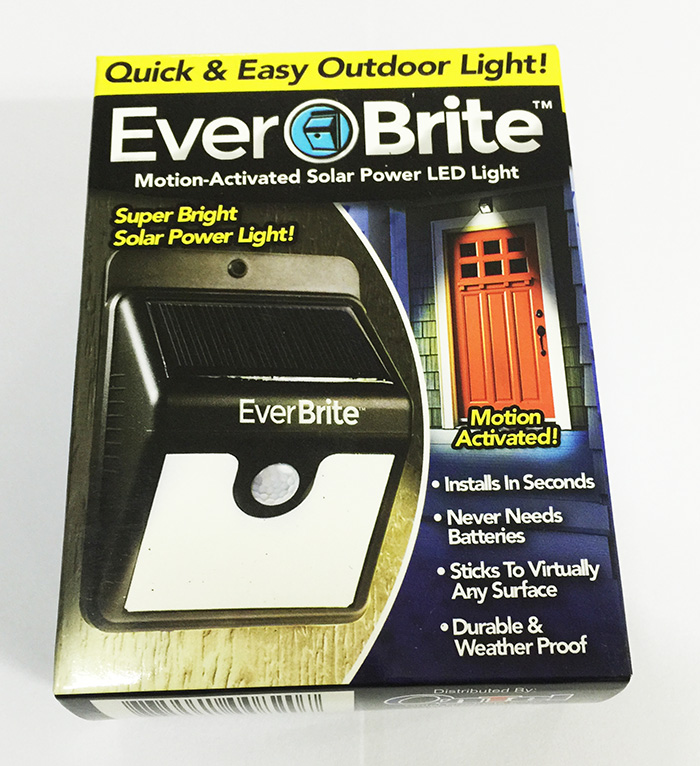 Brand New 1pcs Ever Brite Motion Activated Led Solar