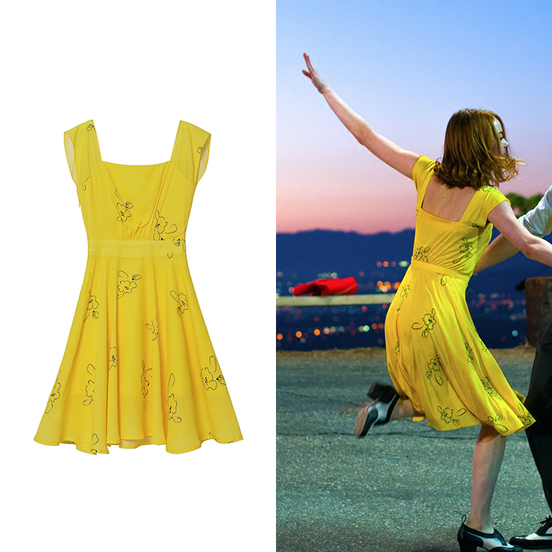 La La Land Mia Yellow Dress Cosplay Fancy Dress | eBay